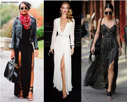 Vestido de Fenda — 2 Combinações Perfeitas Para Noite!