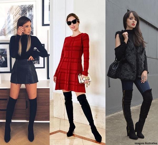 7aea88cdc68a2 Bota Over The Knee — Como Usar Essa Tendência | Passarela Blog | Moda  Feminina e Masculina, Roupas e Calçados