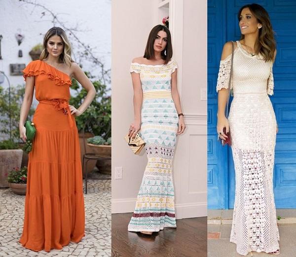 c78218610 Com os acessórios e a maquiagem certa, vestidos longos podem facilmente  transitar entre um look para o dia e um look para noite.