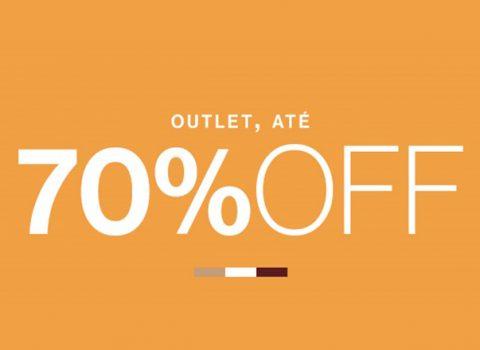 Outlet até 70% off