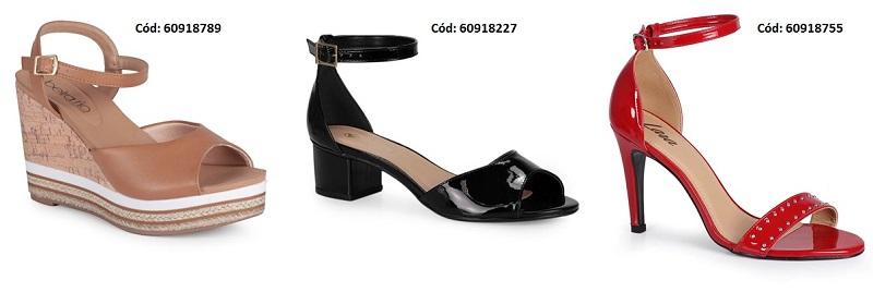 Sandálias com até 60% OFF
