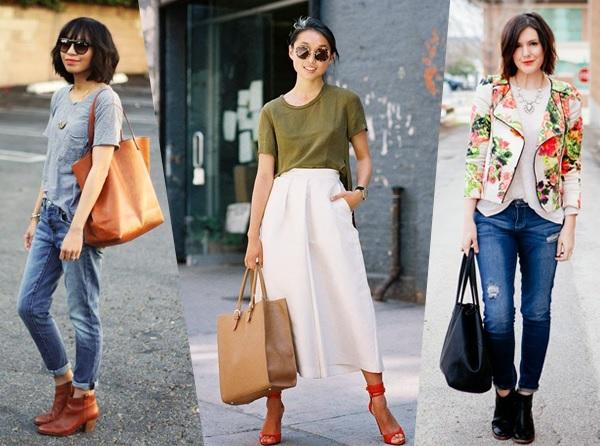 Truques para combinar roupas e bolsas
