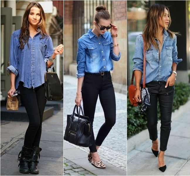 Look moderno com camiseta jeans