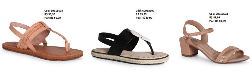 Sandálias Femininas a partir de R$19,99