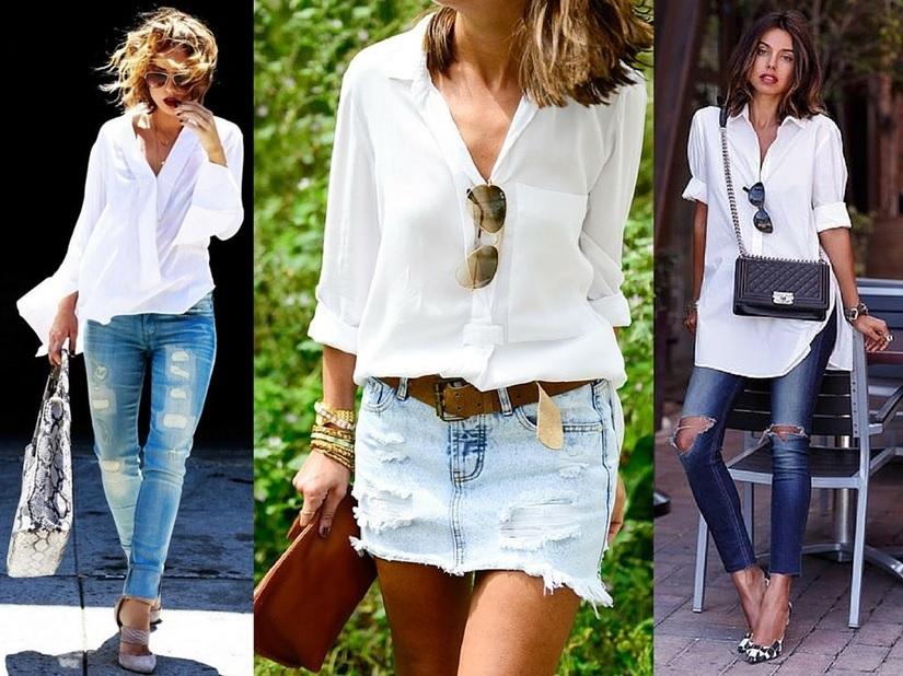 Truques para usar camisa feminina de diferentes maneiras