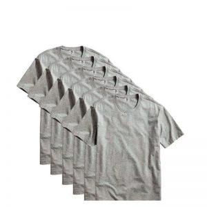 Saldão: Kit com 6 Camisetas Masculina Básica Algodão Part.B Premium Cinza