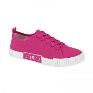 Tendência: Tênis Casual Feminino Moleca Cadarço Básico Pink
