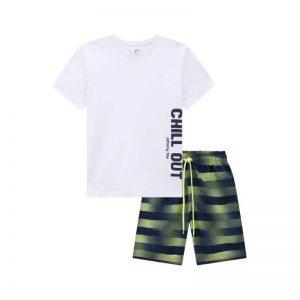 Conjunto de camiseta e bermuda infantil